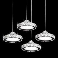 Современный Творческий Кристалл светодиодных подвесной светильник Круглые кольца / Освещение Алмазной подвески для Кафе Бара Гостиной Люстры СВЕТИЛЬНИК -I137