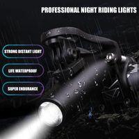 IPX4 étanche LED 300LM T6 éclairage vélo VTT Vélo de route Phare USB rechargeable 5 Modes poignée de vélos Bar Lumières avant