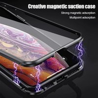 Metal Magnetic Adsorption Case For iPhone XS MAX X XR 6 6S P...