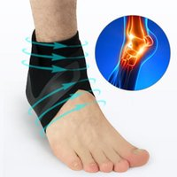 1 Pair Left and Right Ankle Support Brace Elasticity Adjust ...