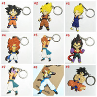 Dragon Ball Z Key Chain Ring PVC Figure Anime Figure Goku Ve...