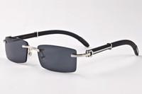 الجملة الفاخرة العلامة التجارية مصمم النظارات بدون شفة للرجال 2017 fason خشب الخيزران الرجعية الجاموس hornbrown عدسة سوداء الزجاج واضحة النظارات الشمسية
