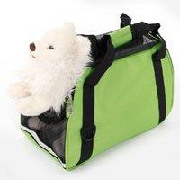 Hueco-hacia fuera portátil impermeable y transpirable para mascotas Bolso Negro Verde S
