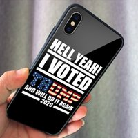 2020 Vote Donald Trump phone case President Phone TPU Glass Case for Iphone XS max XR 6 XS 7 8 plus 11pro Samsung S10