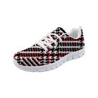 Noisydesigns mujeres a zapatillas de deporte zapatos planos Blanco y Negro Imprimir Golf cómodo famme mujer -AQ