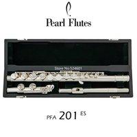 Populares perla Flauta PFA-201ES rectas 16 teclas embocadura caja del instrumento wiht cerrado agujero plata de níquel G Tune Musical