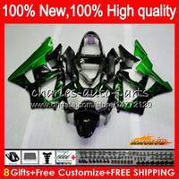 Bodys voor Honda Green Flames CBR 929RR 900 929 RR CC 900CC 929CC 900RR 76HC.111 CBR929RR CBR900RR CBR929 CBR900 RR 2000 2001 00 01 FUNLING