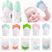 5 Colors Silicone Teether Baby Pacifier Glove Baby Teething ...
