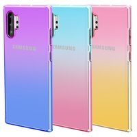 Samsung NOTE10 Gradient Colorful Soft Phone Case Note9 plus S10 S10E S10+ phone cover S9 S9+ A20 A30