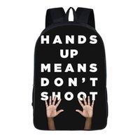أنا غير قادر على التنفس الظهر رسالة طباعة حقائب الكتف أسود حياة مدرسة المسألة حقيبة نايلون للجنسين السفر الرياضة حقائب تحمل على الظهر GGA3462
