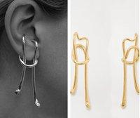 2020 Nouvelle Arrivée Exagéré Boucles d'oreilles en or personnalité design rétro Boucles d'oreilles clip Boucles d'oreilles longues pour femmes No Ear trou
