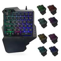 Professiona cablata tastiera da gioco Colorful RGB LED retroilluminazione 35 tasti tastiera a membrana con una sola mano TECLADO MECANICO GAMER Keypad