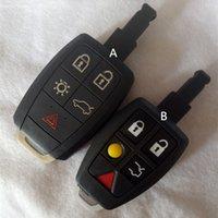 5 sostituzione pulsante Car Cover Shell chiave di caso Fob Custodia con inserto Uncut Lama per Volvo C30 C70 V50 V40 Smart Card