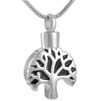 IJD9149 شجرة الحياة الفولاذ المقاوم للصدأ الحرق لجرة رماد التذكار التذكارية جرة المنجد قلادة قلادة مجوهرات