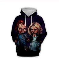 후드 남녀 공통 스웨터 캐주얼 스웨터 운동복 XLR0127를 인쇄 차원 처키 인형의 도매 남성 할로윈 어린이 놀이 신부