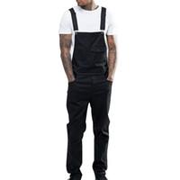 Herren Neu-Denim-Hosen Overalls Jeans Ganzkörper beiläufige Hosen lose Hosen einen Mann Fashion Hip Hop Jumpsuits