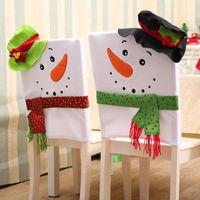 Nova decoração de natal enfeite de mesa boneco de neve de natal casal cadeira capa definir artigos de natal originalidade presente de decoração para casa