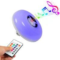 Bluetooth lampada intelligente di musica colorato multifunzionale lampada UFO colore RGB telecomando cambia la lampadina 10048 LED