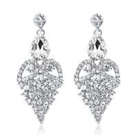 Nouvelles boucles d'oreilles de mariée avec cristaux strass goutte d'eau boucle d'oreille trouvailles de mariage accessoires de mariage pour les mariées BW-056
