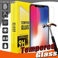 100pcs 2.5D vetro temperato 9h Premium per iPhone 11 Pro Max XS XR x 8 7 6 6S Plus HD Screen Protector Guard Guard con pacchetto