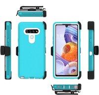 Para LG K51 Stylo 6 para Samsung A11 A01 A10E G lápiz óptico 3 en 1 Choque híbrido resistente absorción de la caja del clip cinturón protector