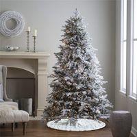 48 بوصة شجرة عيد الميلاد تنورة مطرزة ندفة الثلج شجرة الحلي جولة السجاد الكلمة حصيرة حزب عيد الميلاد عطلة زينة JK1910