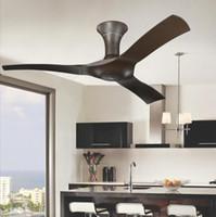 54 pouces brun ventilateurs de plafond moderne avec télécommande sans plafond lumière ventilateur Accueil ventilador de teto ventilador 220 V