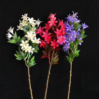 가짜 스프레이 색상 Cymbidium 시뮬레이션 난초 DIY 웨딩에 대 한 플라스틱 잎 꽃다발 꽃꽂이 꽃꽂이 액세서리