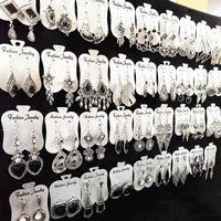 оптовые продажи 30 пара Mix Стили Silver / Gold мотаться серьги для женщин Моды ювелирных изделий серьги подарков партии Brand New груза падения