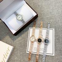 oro especial del diseño reloj de las mujeres reloj agradable del reloj de moda de lujo con el diamante Relojes De Marca Mujer vestido de la señora reloj de pulsera reloj de cuarzo rosa