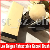 Berühmte Gesichts-Make-up-Tool Les Beiges RETRACTABLE Kabuki Pinsel mit Box-Paket Beauty erröten Lidschatten Kosmetik Make-up Pinsel