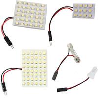 10 세트 12 36 48 LED 패널 슈퍼 화이트 자동차 독서지도 램프 1210 smd 자동 돔 실내 전구 지붕 T10 어댑터 페 스톤 자료