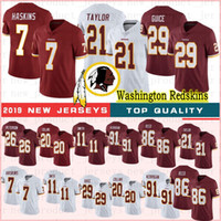 7 Dwayne Haskins Football Jersey 20 Landon Collins 26 Adrian Peterson 21 Sean Taylor 11 maillots Smith Football