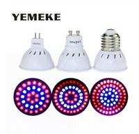 2020 Nuevos 36 54 72leds Grow Bombilla E27 / GU10 / MR16 220V Phyto lámpara Full Spectrum LED crece las lámparas de luz E27 Para Plant