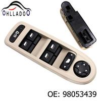 HLLADO Nouveau Power Windows Interrupteur 98053439 pour PEUGEOT 308/508 / C5 5 portes Hatchback Wagon 2008-2013 30170396 98054508 Couleur beige