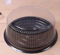 grande boîte à gâteau ronde / 8 pouces boîte à fromage / récipient en plastique clair de gâteau / grand titulaire de gâteau Livraison gratuite zhao