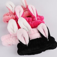 Cute Bunny Ear Makeup Headbands for Washing Face Shower Spa ...