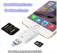 Nuovo 3 in 1 i-Flash Drive Multi-Card OTG Reader Micro SD TF Memory Card Reader USB Adapter per iPhone 8 7 6 Andriod PC
