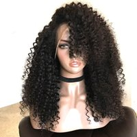 Natural Black Afro Kinky Curly Long Hair Cheap Synthetic Lac...