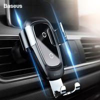 شاحن Baseus تشى السيارات اللاسلكية 10W شحن سريع تنفيس الهواء الجاذبية حامل الهاتف الخليوي للحصول على برو 11 إكسس ماكس XIAOMI 9 سامسونج S10 S9