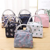 Portable lunch bags tote thermal insulated cooler waterproof...