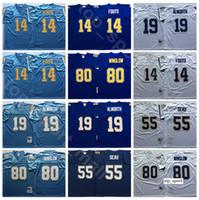 NCAA Football 55 младший SAUU 14 Dan Fout Tribersys 19 Lance Alworth 80 Kellen Winslow цвет фиолетовый синий белый человек винтажный сшитый
