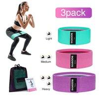SGODDE 3 STÜCKE Hüftband Yoga Widerstand Band breite Fitness Übung Beine Elastische Schleife für Kreis Kniebeugen Training Anti Slip Roll