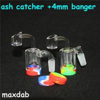 Haken Klassik mit Quarz Banger 14mm 18mm Arm Perc Catcher Mehr Asche Silikon DAB JAR Wachs Container Glas Wasser Bong