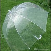 Stilvolle Einfachheit Bubble Deep Dome Regenschirm Apollo Transparent Umbrella Girl Mushroom Umbrella klare Blase Kinder Regenbekleidung