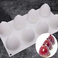 8 Delik yarım daire Yumurta Mousse Kalıp DIY Kek Kalıpları Pişirme Kalıpları Bakeware Mutfak ARAÇ Moda 17 2GX UU