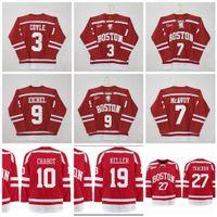Boston Üniversitesi Hokey 9 Jack Eichel 7 Charlie McAvoy 3 charlie coyle Clayton Keller Diffley Thomas Chabot Brady Tkachuck NCAA Forması