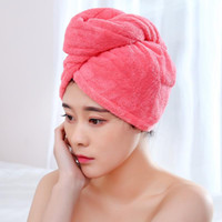 Super absorbent dry hair Caps Shower towel Coral velvet Quic...