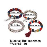 Europa e nos Estados Unidos transfronteiriça novo cristal natural opala frisada pulseira multi-anel borla pulseiras retro celebridade vento jóias