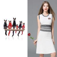 Кошка Брошь Творческого мультфильма Брошь Pin Мода животные корсаж Одежда Аксессуары для женщин девочек